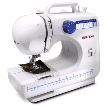 LHR FHSM-506 Double Thread Automatic Pedal Multi Sewing Machine (White/Blue)