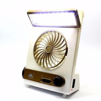 LOVE&HOME 3-in-1 Solar Power Rechargeable LED LightFan(Gold/Blue) Set of 2 - 5