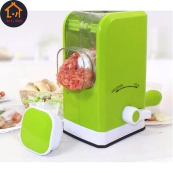 LOVE&HOME Manual Meat Vegetable Mincer Grinder (Green)