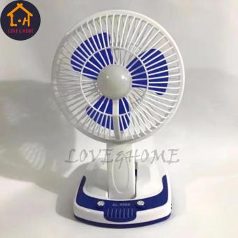 LOVE&HOME Portable Rechargeable Mini Fan with LED Light JY-5590 (Blue)