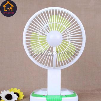 LOVE&HOME Portable Rechargeable Mini Fan with LED Light JY-5590 (Green)