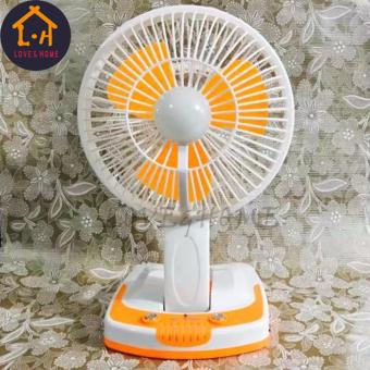 LOVE&HOME Portable Rechargeable Mini Fan with LED Light JY-5590 (Orange)