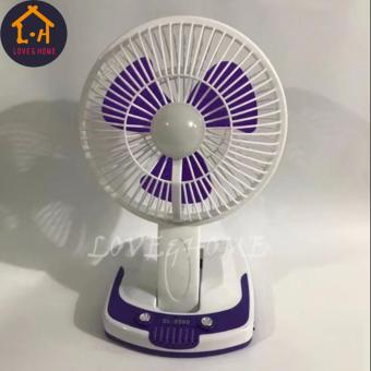 LOVE&HOME Portable Rechargeable Mini Fan with LED Light JY-5590 (Purple)
