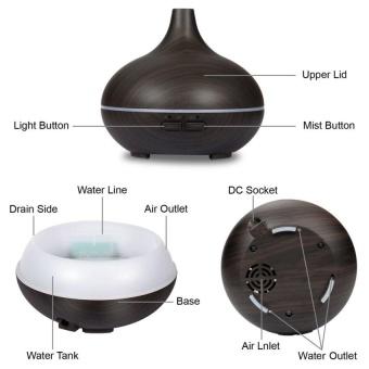 LZ Elegance Wood Ultrasonic Aroma Essential Oil DiffuserHumidifierair Purifier 150Ml -Dark Wood Grain - intl - 3