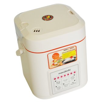 Marubishi MRC 103 Mini Electric Cooker 0.6L (White/Orange)