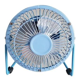Metal 4 Fanblades USB Mini Cooling Fan (Blue)