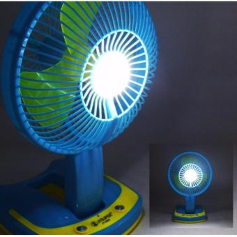"""Mini 6"""" Rechargeable AC/DC 2 Speed Table Fan with 21 SMD LED Lights - 4"""
