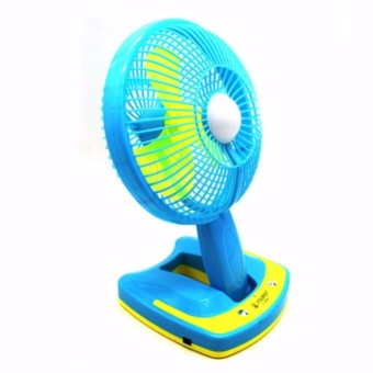 """Mini 6"""" Rechargeable AC/DC 2 Speed Table Fan with 21 SMD LED Lights - 2"""