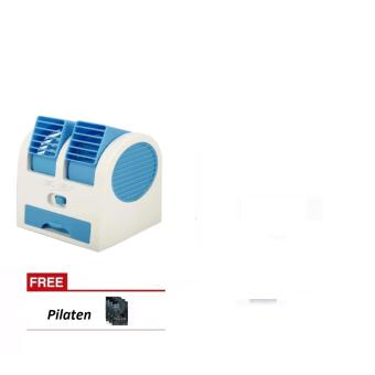 Mini Air Conditioning Fan Cooler (Blue) with FREE Pilaten