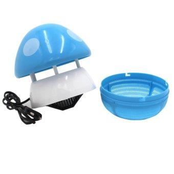 Mini Egg Air Revitalisor (Black) With Mini Mushroom Shaped LED Photocatalyst Mosquito Killer & Lamp (Blue) and Humidifier Scent Starter Kits Spa Series Set (White) - picture 2