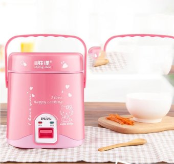 Mini Electric Rice Cooker Intelligent Appointment Small StudentRice Cooker 1 to 2 People (Pink)