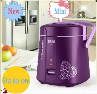 Mini Electric Rice Cooker Intelligent Appointment Small StudentRice Cooker 1.2L 1 to 2 People(Violet)