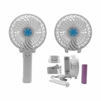 Mini Handheld Portable Fan Foldable Table Cooling Fan HandyRechargable (White)