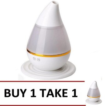 Mini Ultrasonic Anion Humidifier Colorful Gradient Light (White)Buy 1 Take 1