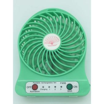 MINI USB RECHARGEABLE PORTABLE COOLING FAN [GREEN] Price Philippines