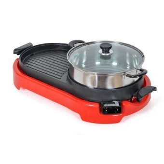 Multi-function Cooker with Electric Hotplate Grill