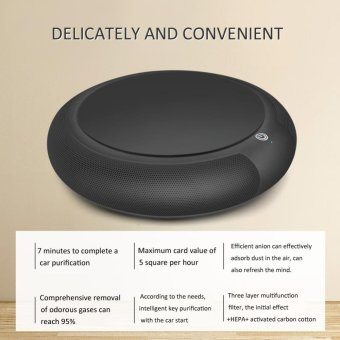Multi-function Solar W/Negative Ion Deodorization Function AirPurifier for Car(Black) - intl - 2