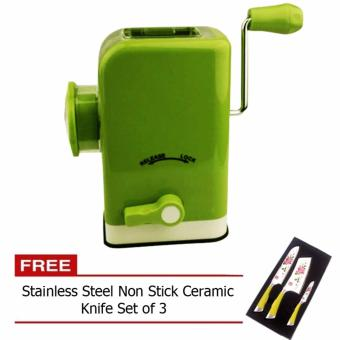 Multifunctional Meat Grinder (Chartreuse) with Free Stainless SteelNon Stick Ceramic Knife Set of 3