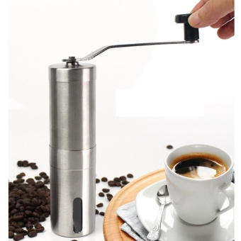 New Coffee Grinder Convenient Stainless Steel Manual Detachable Easy to Assemble Coffee Machine Portable Coffee Mill Adjustable Ceramic Burr Manual 30g Coffee Powder Yield - intl