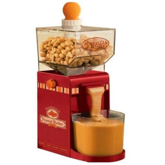 Nostalgia Electrics Electric Homemade Peanut Butter Machine (Red)