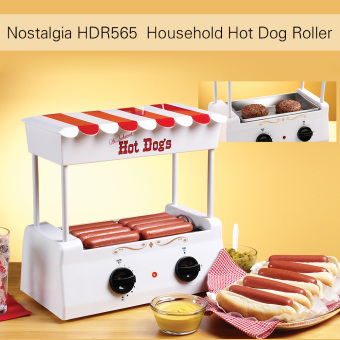 Nostalgia HDR565 Old Fashioned Household Hot Dog Roller Grill Maker Hot-dog Barbecue BBQ Machine with Bun Warmer 5 Rollers - intl Price Philippines
