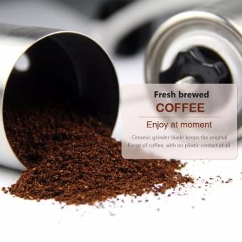 Oria Manual Coffee Grinder, Conical Ceramic Burr Bean - Hand CoffeeMill - Aeropress Compatible - 30g Coffee Powder Yield - intl - 5