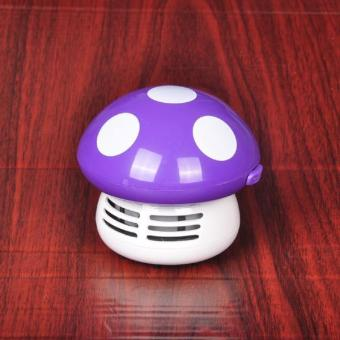 PAlight Cute Mini Mushroom Corner Desk Table Dust Vacuum CleanerSweeper - intl