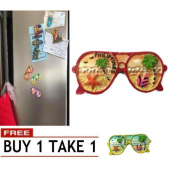 Philippine Sunglasses 3D Fridge Magnet Travel Souvenir RefrigeratorAccessory Magnetic Stickers Home Decoration 96g BUY 1 TAKE 1 Price Philippines