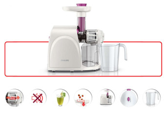 Philips HR1830 Slow Juicer (White) - picture 2