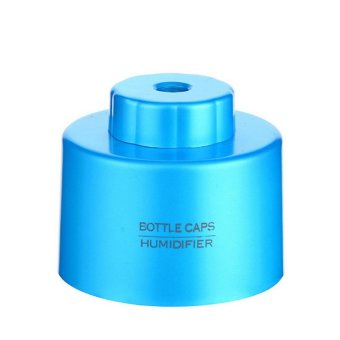 Portable Bottle Cap Air Humidifier with Bottle (Blue) (Intl)