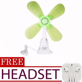 Portable Clip Electric Fan (color may vary)with FREE Headset (colormay vary)
