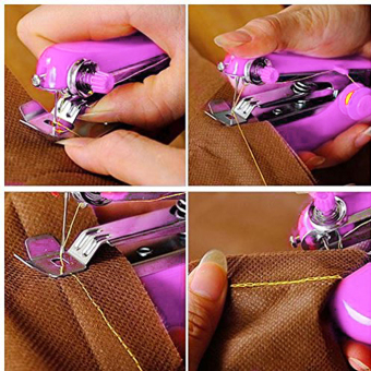 Portable Hand-Held Sewing Machine Mini Clothes Fabric PortablePocket - 2