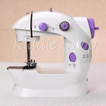 Portable Handheld Mini Electric/Charger Sewing Machine DoubleThread (White/Lavender)