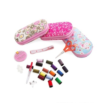 Portable Mini Sewing Kit Box with Needle Threads Pin Scissor - intl - 5