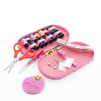 Portable Mini Sewing Kit Box with Needle Threads Pin Scissor - intl - 2