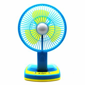 Portable Rechargeable Mini Fan with LED Light JY-5590 (Blue)