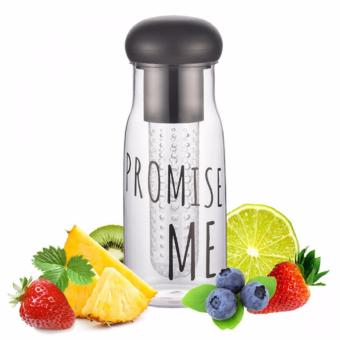 Promise Me BPA Free 750 ml Water Bottle With Fruit Infuser (Black)