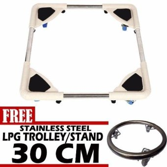 Prostar Durabase Washing Machine Stand / Ref Stand / FurnitureStand with Free 30 cm Stainless Steel LPG Stand