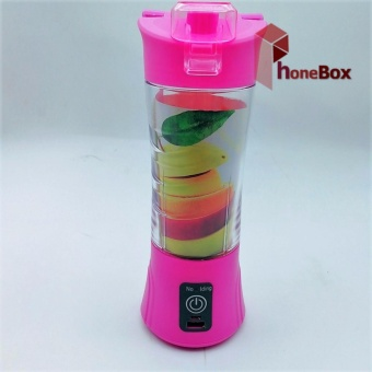 QL-602 Portable and Rechargeable Battery Juice Cup Blender (pink)