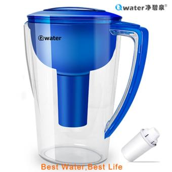 Qwater 1.6L Portable Mineral Alkaline Water Purifier Kettle PitcherWithout Electricity - intl