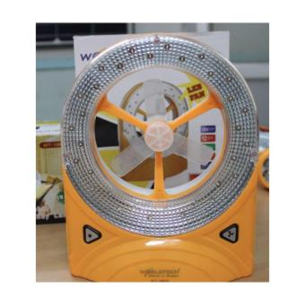 Rechargeable LED Emergency Light with Fan (Yellow)