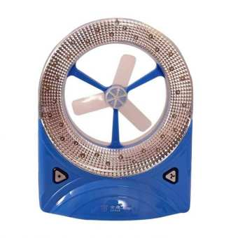 Rechargeable LED Light with Fan, Set of 4 (Blue/Yellow) - picture 2
