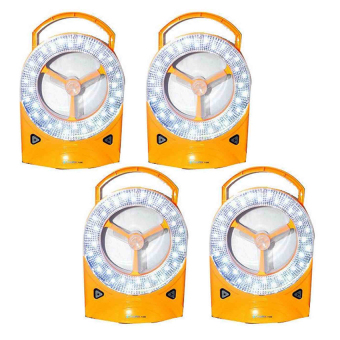 Rechargeable LED Light with Fan, Set of 4 (Yellow)