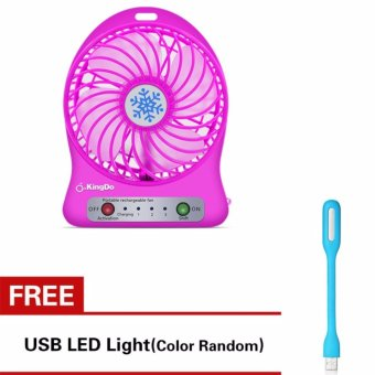 Rechargeable USB Fan with Free USB LED Light
