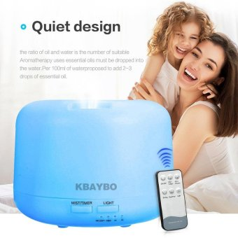 Remote Control 300ML Ultrasonic Air Aroma Humidifier with 7 Color Lights Electric Aromatherapy Essential Oil Aroma Diffuser - intl - 2