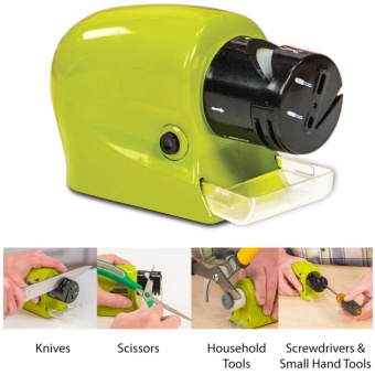 Rukia Cordless Motorized Knife Sharpener in Green Swifty Sharp - Green