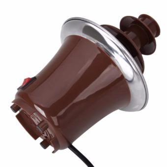 Rukia Mini Chocolate Fountain (Brown) with Cake Pop and CupcakeStand - 4