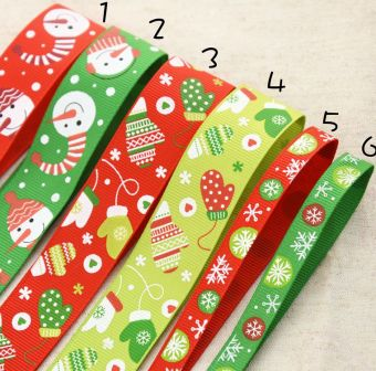 Senlin Foreign Trade cloth standard Christmas theme RIBBON