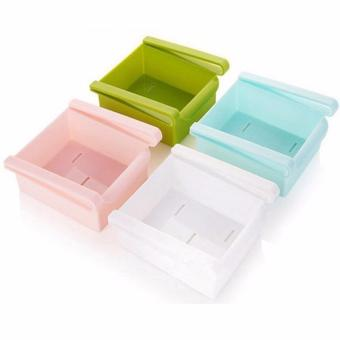 Set of 4 Slide Kitchen Fridge Freezer Space Saver Rack Shelf HolderRefrigerator Drawer Organizer Storage Box Shelves - 2