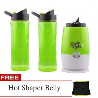 Shake N Take 3 Blender 16oz (Green) with Free Hot Shaper Belly (Size May Vary)